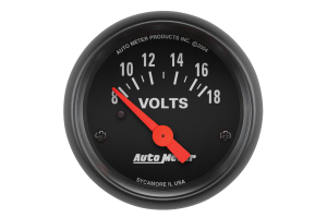 Autometer Z-Series Voltmeter Gauge 52mm - Universal