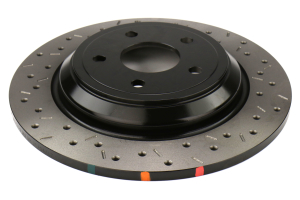 DBA XS 4000 Series Drilled and Slotted Rear Rotor - Ford Focus RS 2016+