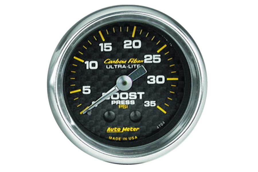Autometer Carbon Fiber Boost Gauge Mechanical 52mm - Universal