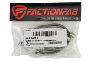 FactionFab Rear Stainless Steel Brake Lines - Subaru WRX 2002-2007