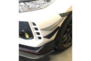 APR Performance Carbon Fiber Front Bumper Canards - Honda Civic Type R 2017+