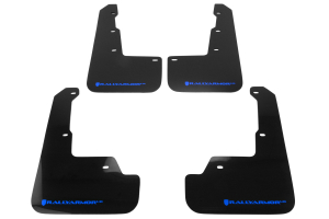 Rally Armor UR Mudflaps Black Urethane Blue Logo (Part Number: )