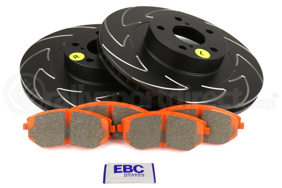 EBC Brakes S7 Front Brake Kit Orangestuff Pads and BSD Rotors - Subaru Models (inc. 2003-2005/2008 WRX / 2003-2008 Forester)