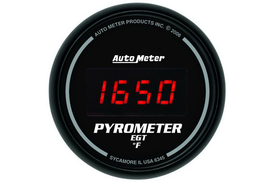 Autometer Sport-Comp Digital EGT Exhaust Gas Temperature Gauge Red LED 52mm - Universal