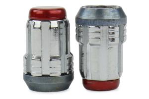 McGard Lug Nut Kit Chrome w/ Red Cap 12x1.25 ( Part Number:MCG 65554RC)