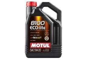 Motul 8100 Eco-Lite 5W20 Synthetic Oil 5L - Universal