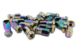 KICS R40 20-Piece Neo Chrome 12x1.25 Lug Nuts (Part Number: )