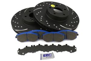 EBC Brakes S6 Front Brake Kit Bluestuff Pads and 3GD Rotors - Subaru Models (inc. 2003-2005/2008 WRX / 2003-2008 Forester)