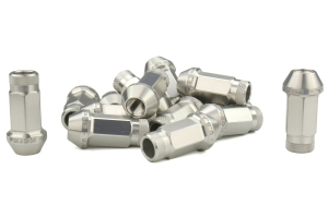 Password JDM Silver Lug Nuts Open Ended 16pc 12x1.5 - Universal