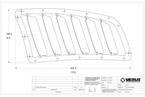 Verus Engineering Hood Louvre Kit Black - Universal