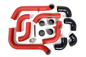 Grimmspeed Front Mount Intercooler Kit Black Core w/ Red Piping - Subaru WRX 2008-2014