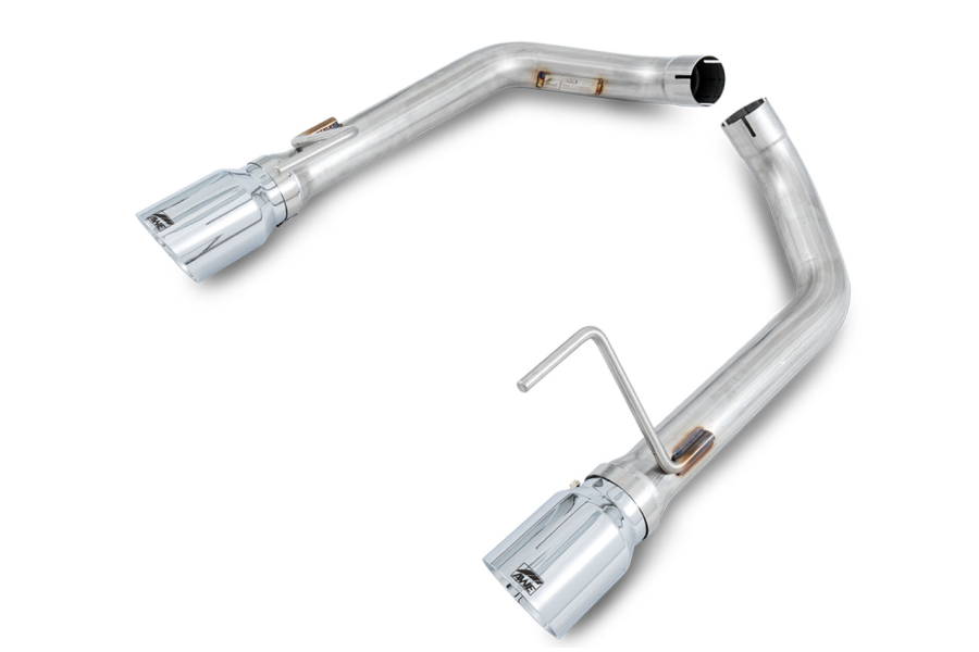 AWE Tuning Track Edition Axle Back Exhaust Chrome Tips - Ford Mustang GT Fastback 2015-2017