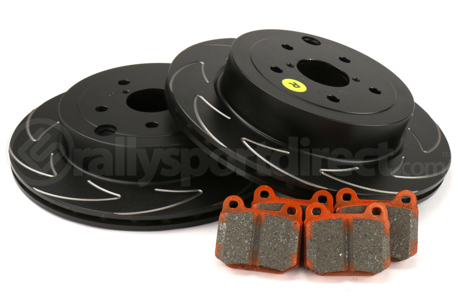 EBC Brakes S7 Rear Brake Kit Orangestuff Pads and BSD Rotors - Subaru STI 2008-2017