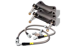 Stoptech ST-40 Big Brake Kit Front 332mm Black Zinc Drilled Rotors ( Part Number:STP 83.838.4600.54)