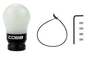 COBB Tuning Shift Knob White w/Black - Volkswagen Golf/GTI (Mk6) 2009-2014