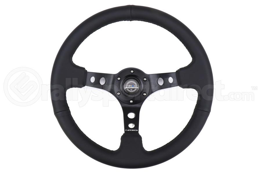 NRG Reinforced Steering Wheel 350mm 3in Deep Black - Universal