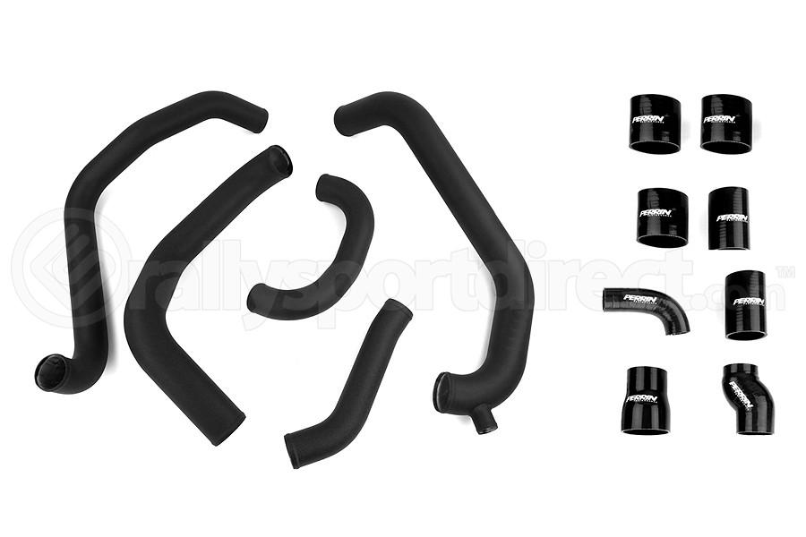 PERRIN Boost Tube Kit Black Piping Black Couplers - Subaru STI 2008-2014