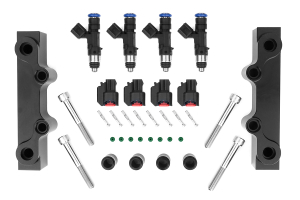 Injector Dynamics Fuel Injectors 1000cc w/ Top Feed Fuel Rails  ( Part Number: 1000.18.01.48.14.4)