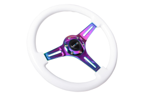 NRG Classic Wood Grain Wheel 350mm Neochrome / White - Universal