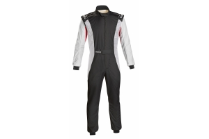 Sparco Competition Racing Suit Black / White / Red - Universal