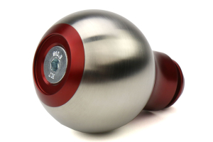 AutoStyled Subaru 5 Speed Shift Knob Red w/ Stainless Steel Center - Subaru 5MT Models (inc. 2002-2014 WRX)