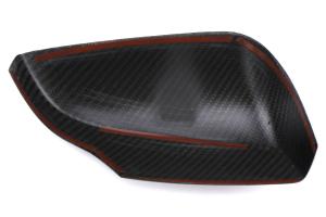 OLM S-line Dry Carbon Fiber Mirror Covers w/ Turn Signal Hole - Subaru WRX / STI 2015+