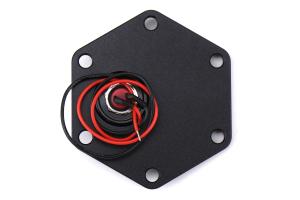 NRG Innovations Hexagonal Style Black Ring w/ Horn Button - Universal