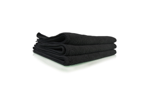 Chemical Guys Workhorse Professional Grade Microfiber Towel  Black (3 Pack) - Universal