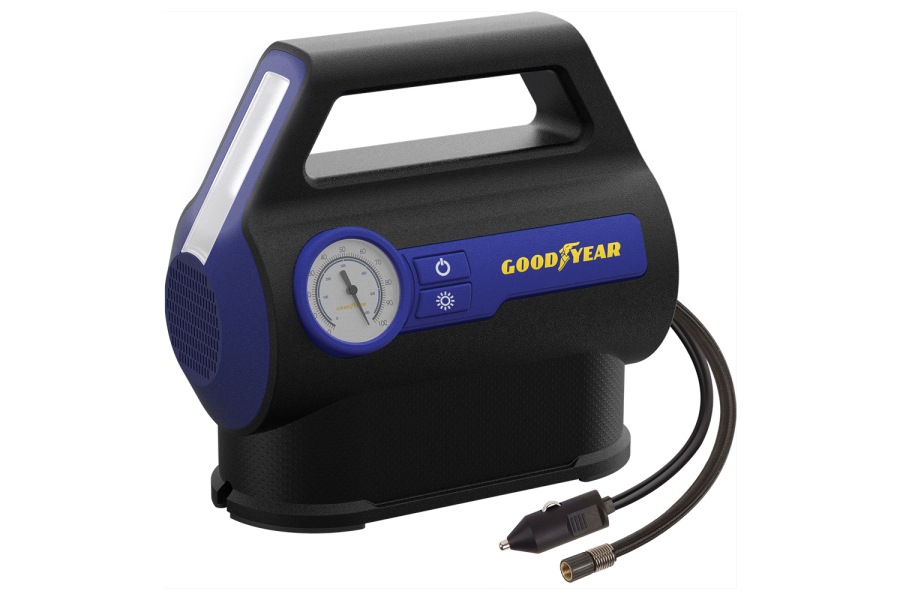 Goodyear 7 Minute Flat-to-Full Inflator Analog Gauge - Universal