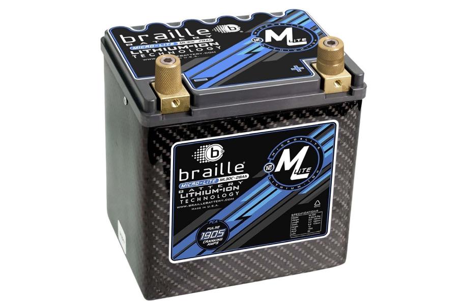 Braille MicroLite ML30C Lithium Battery - Universal