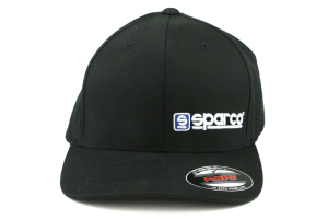 Sparco Hat Lid Black Large/XLarge FlexFit Tuning ( Part Number:SPR2 SP14N)