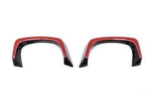 OLM WRX Gloss Black Exhaust Finishers w/ Red Line - Subaru WRX / STI 2015+