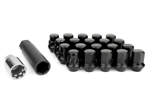 Volk Racing Rays 17 Hex 12X1.25 Lug Nuts Black (Part Number: )