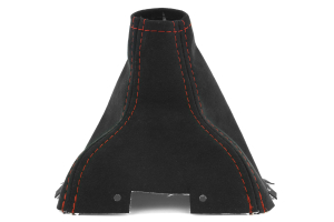 JPM Coachworks Shift Boot Black Alcantara Red Stitching  ( Part Number: 1005A40-R)