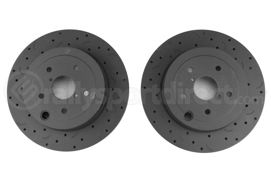 Hawk Talon Cross Drilled and Slotted Rear Rotor Pair - Subaru STI 2008-2017