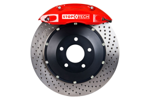 Stoptech ST-40 Big Brake Kit Front 332mm Red Drilled Rotors ( Part Number:STP 83.839.4600.72)