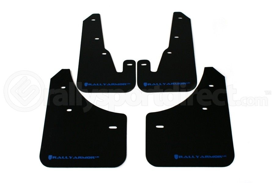 Rally Armor UR Mudflaps Black Urethane Blue Logo ( Part Number:RAL MF9-UR-BLK/BL)