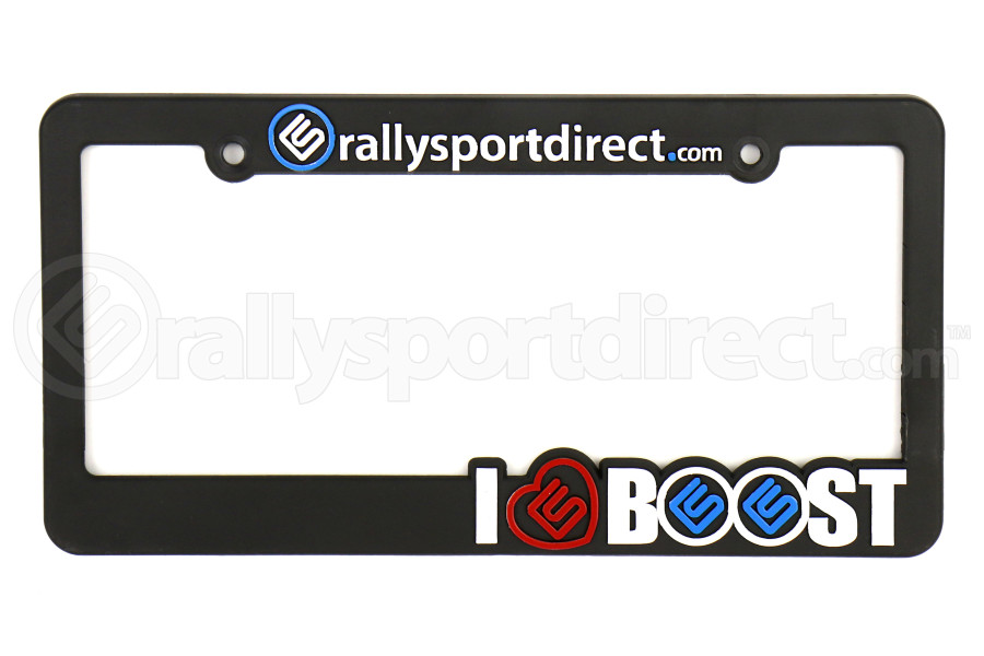 RallySport Direct I Love Boost License Plate Frame (Part Number:10007)