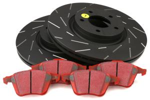 EBC Brakes S4 Rear Brake Kit Redstuff Pads and USR Rotors - Mazda 6 2006-2013