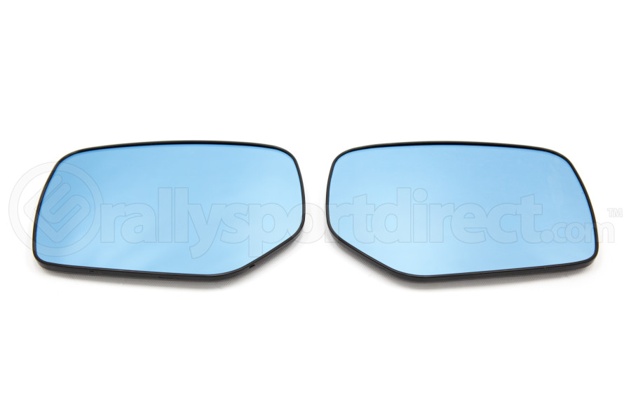 OLM Wide Angle Convex Mirrors w/ Defrosters Blue (Part Number:MRL-WRX14-PBH)