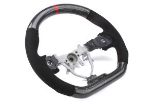 FactionFab Steering Wheel Carbon and Suede - Subaru WRX / STI 2008 - 2014
