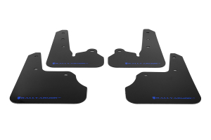 Rally Armor UR Mudflaps Black Urethane Blue Logo ( Part Number:RAL MF22-UR-BLK/BL)