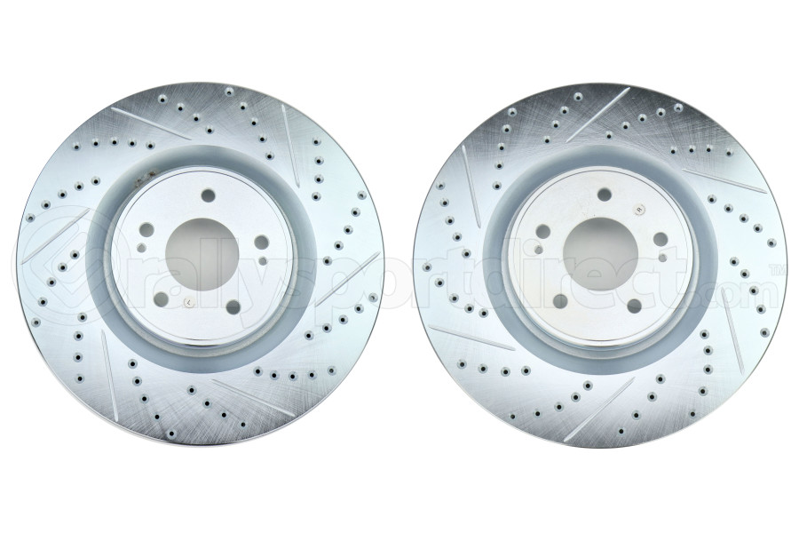 Stoptech C-Tek Sport Drilled and Slotted Front Rotor Pair - Mitsubishi Evo X 2008-2015