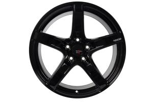 Option Lab Wheels R555 18x8.5 +40 5x108 Gotham Black - Universal