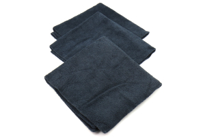 Chemical Guys 704 Black Monster Edgeless Microfiber Towels Black (3 Pack) - Universal