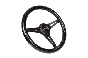 NRG Classic Wood Grain Wheel 350mm Black / Galaxy Sparkle Black - Universal