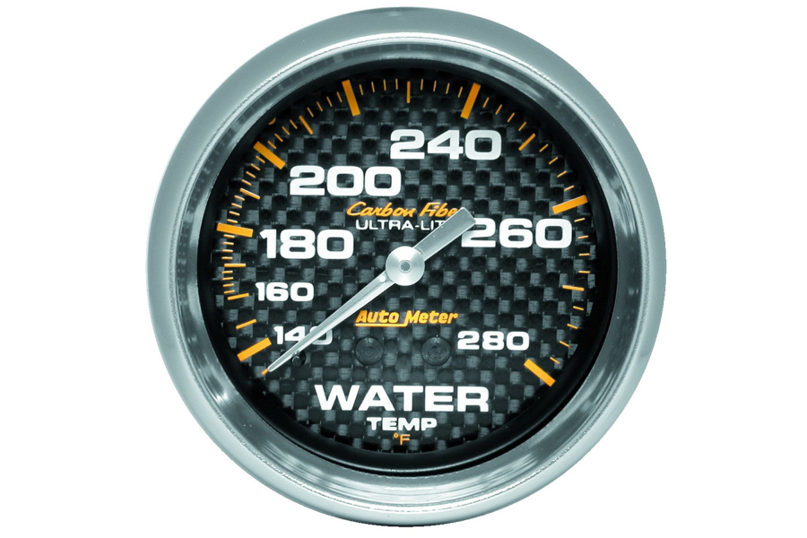 Autometer Carbon Fiber Water Temperature Gauge Mechanical 2-5/8in - Universal