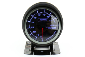ProSport Wideband Air Fuel Ratio Gauge w/O2 Sensor Blue/White 52mm (Part Number: 216SMWBAFR-WO-SF)