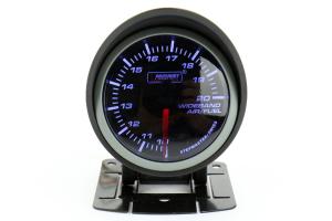 ProSport Wideband Air Fuel Ratio Gauge w/O2 Sensor Blue/White 52mm ( Part Number: 216SMWBAFR-WO-SF)