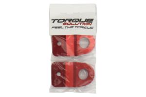Torque Solution Radiator Stay Red - Subaru WRX/STI 2008+ / Legacy 2005-2009